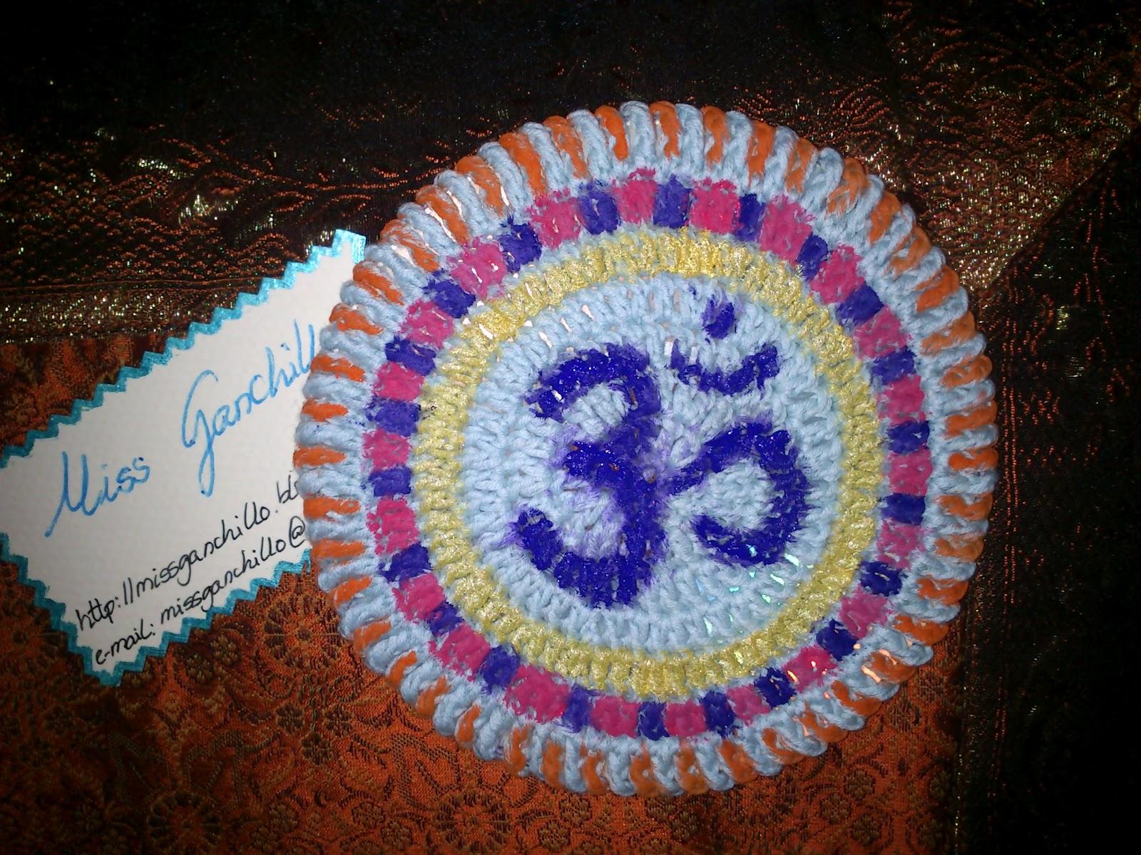 Miss ganchillo posavasos om con cd a ganchillo crochet - Posavasos de ganchillo ...
