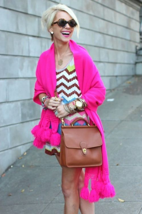 hot pink fashion trends 2012