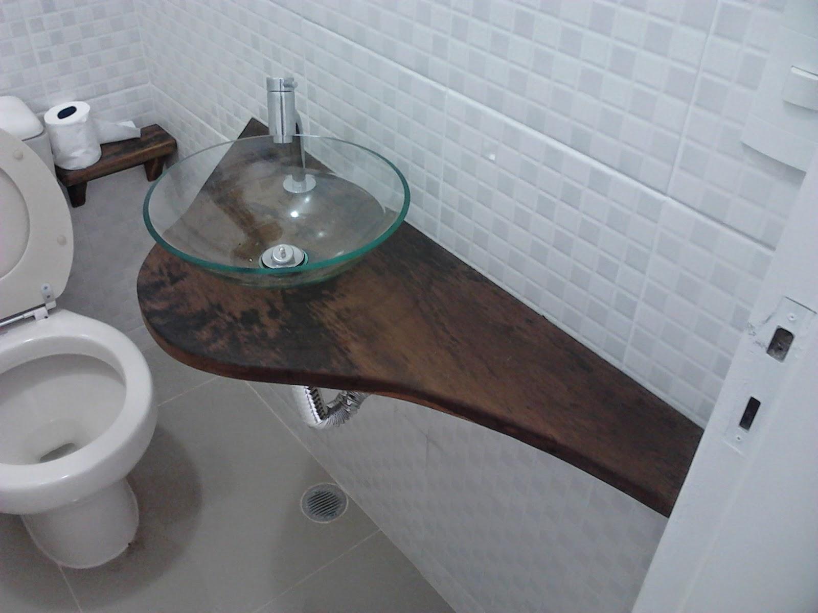 Rusmad Móveis e Decorações Bancada de pia de banheiro em demolição -> Cuba Para Banheiro Rustica