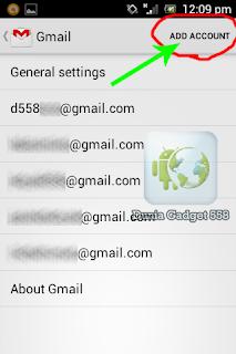 Mengatur akun gmail di Android