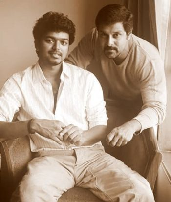 Vijay With Actor Vikram