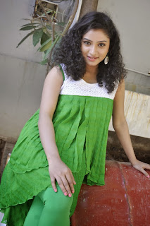 Actress Vishnu Priya Pictures in Green Dress at Nenu Naa Friends Telugu Movie Opening 0031