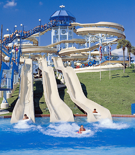 The most frequently used facilities at Wet N' Wild were: Raging Rapids, the Wave Pool, Blue Niagara, Lazy River, and Mach 5. 6. In general, they were more interested in the park's rides and attractions than any event of the Summer Break Nights.