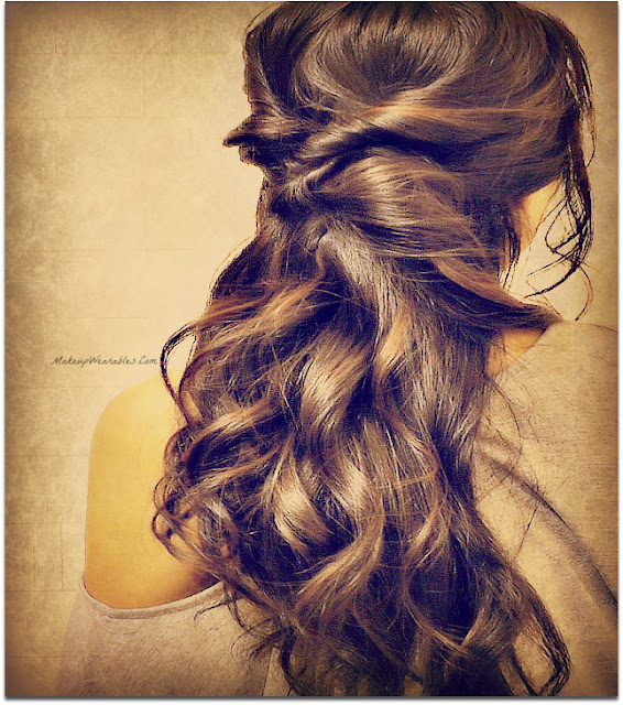 Quick & Easy Hairstyles for School, for Work. 3 Min Half-Up, Half-Down Twist Updo Hairstyle for Medium Long Hair