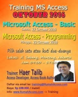 Jadwal Training Access