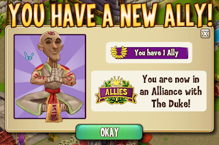 You have new ally in castleville