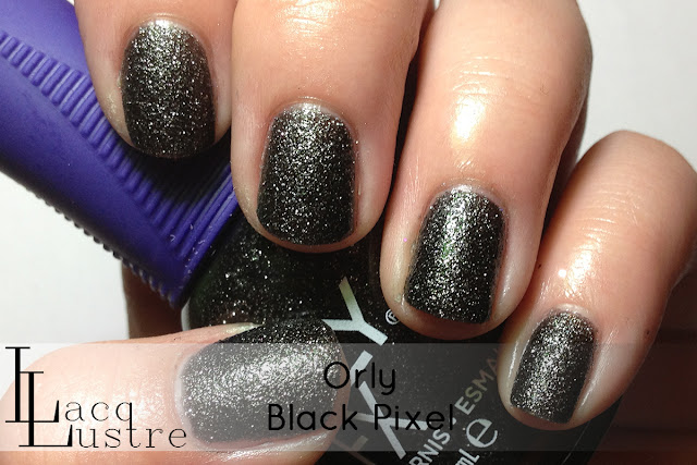 Orly Black Pixel swatch