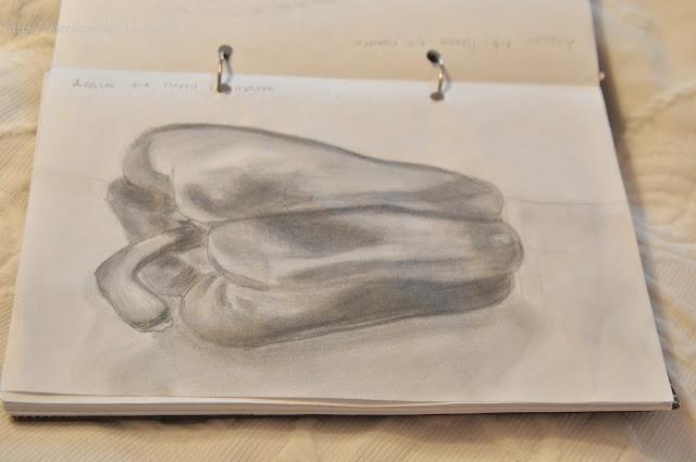 pepper drawing, pippurin piirros, kuva, pippuri