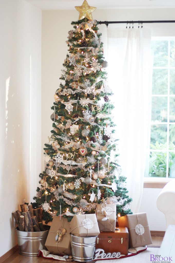 Christmas Tree Ruffled Garland Tutorial Beingbrook