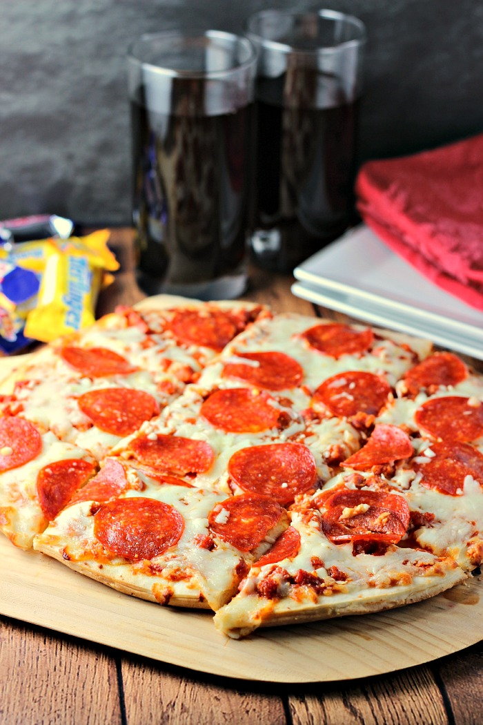 Easy Pumpkin Spice Pecan Fudge and TOMBSTONE® Original Pepperoni Pizza | Renee's Kitchen Adventures