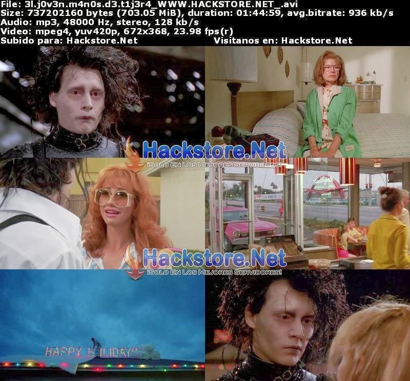 Captura El Joven Manos de Tijera (1990) DVDRip Latino
