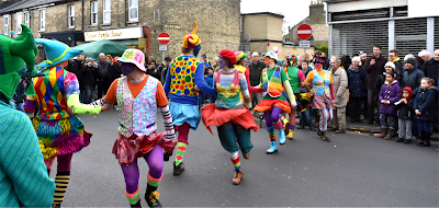 Gog Magog Molly dancers performing