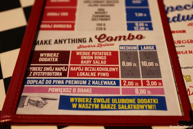 Amerykanska restauracja Fuddruckers Warszawa - menu