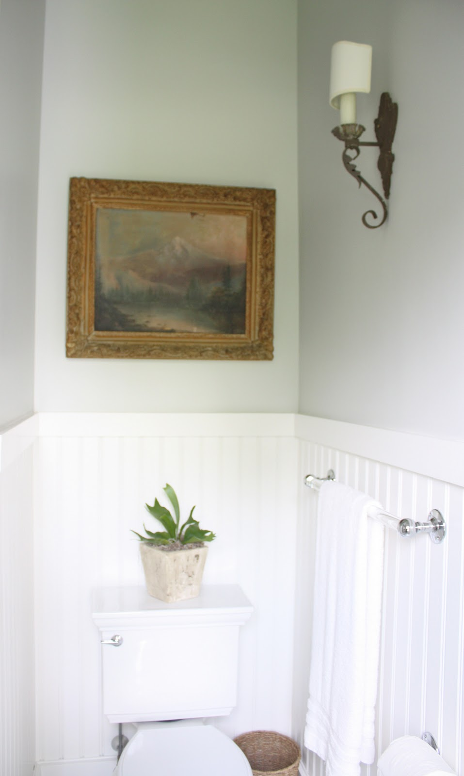 For the love of a house the guest bath details for Benjamin moore bathroom colors 2011