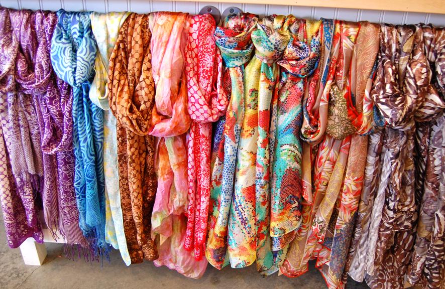 market lightweight colorful summer scarves