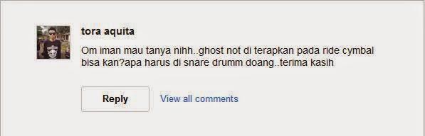 Ghost Note Diterapkan Pada Ride Cymbal