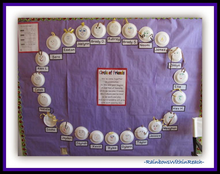 Circle of Friends Bulletin Board: 200+ Back to School BB Ideas at RainbowsWithinReach