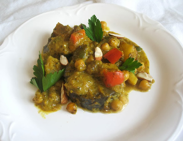 eggplant casserole with chickpeas