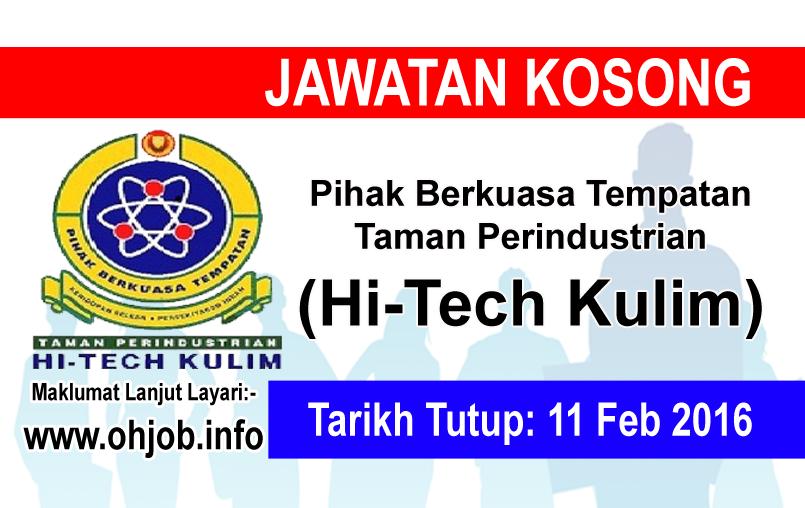 Jawatan Kerja Kosong Pihak Berkuasa Tempatan Taman Perindustrian Hi-Tech Kulim logo www.ohjob.info februari 2016