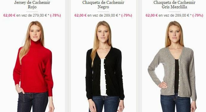 Ejemplos de jerséis y chaquetas de cachemir para mujeres