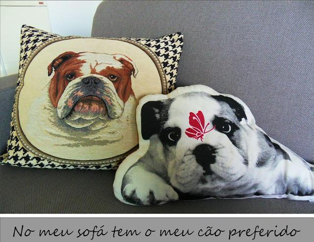 almofadas com cachorro