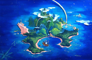 disney peter pan watercolor neverland illustration j shari ewing jennifer ewing