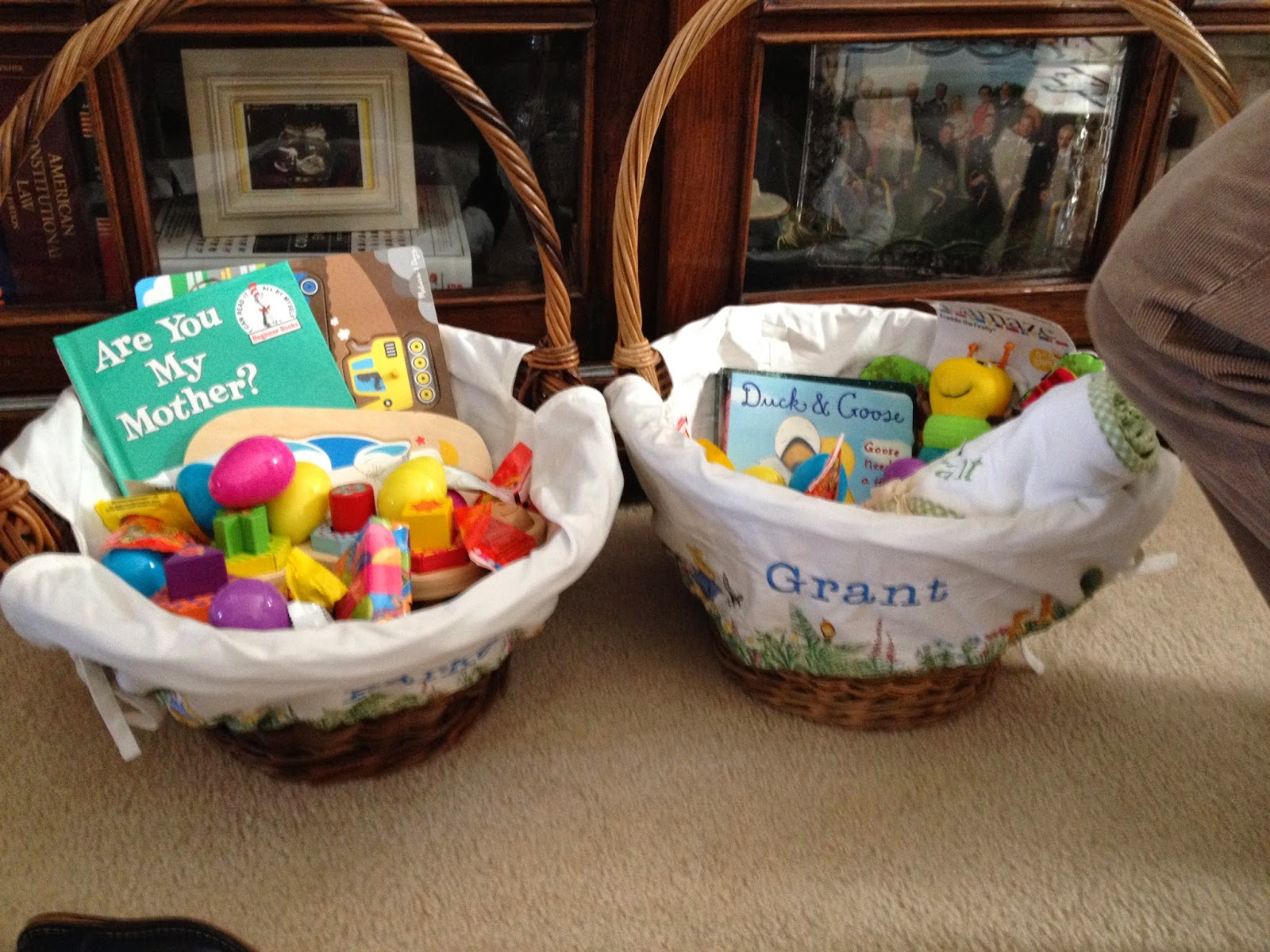 Suddenly snowden our happy easter he loved going through his basket stopping to play or read each gift after he had seen everything in his basket he helped baby grant open his basket too negle Image collections