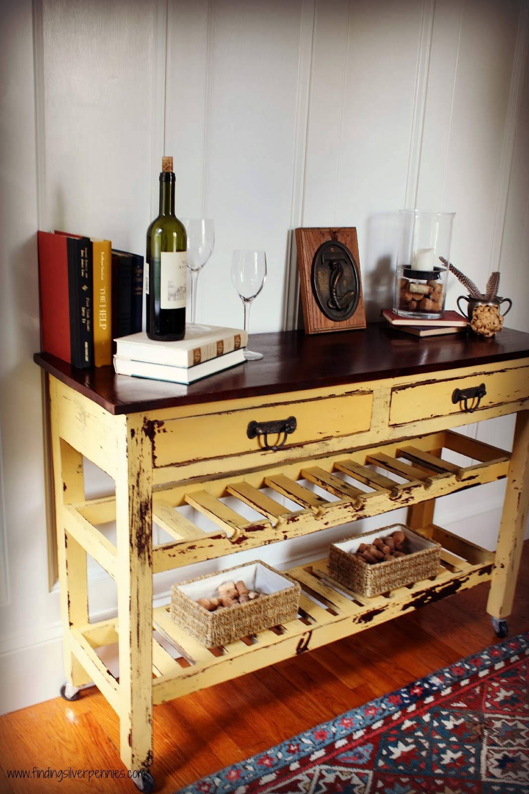 Talia Wine Table (Before & After) - Finding Silver Pennies