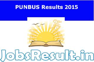 PUNBUS Results 2015