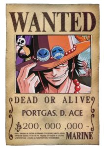 American Top Cartoons One Piece Ace Wanted