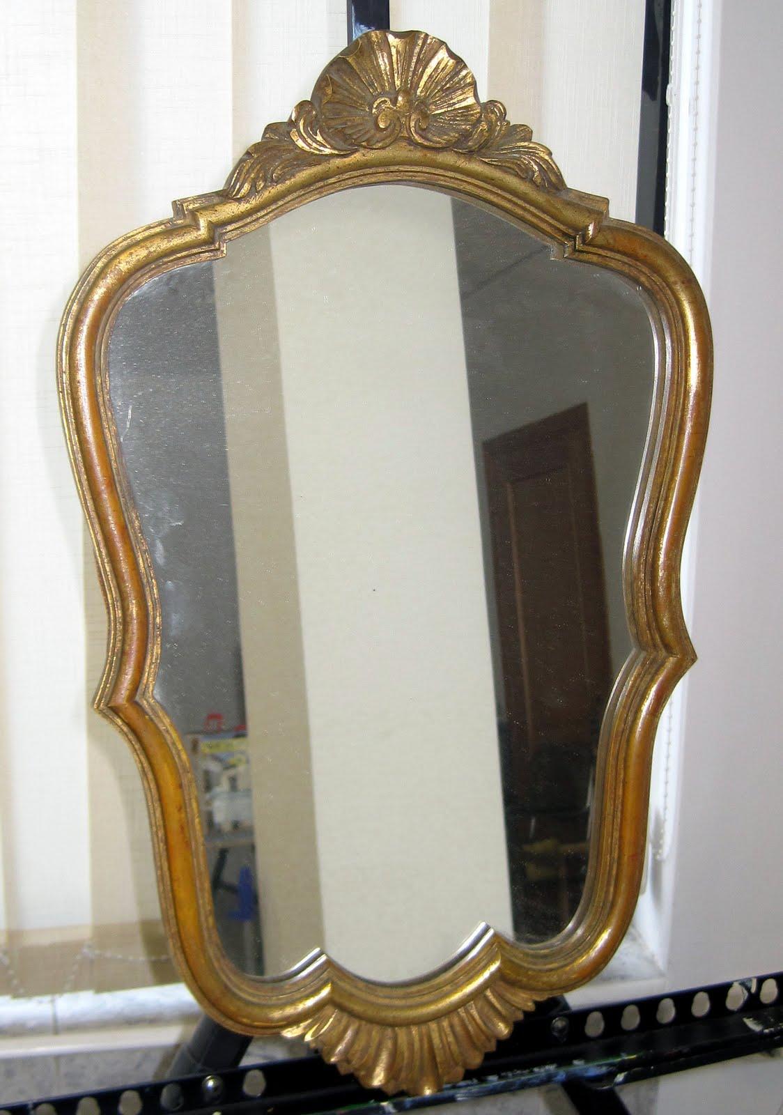 Retazos de mi vida espejo antiguo restaurado for Espejo y cepillo antiguo