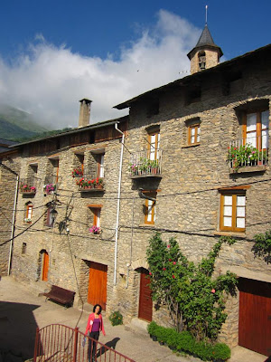 Stone houses in Saurí, a lovely village near Sort