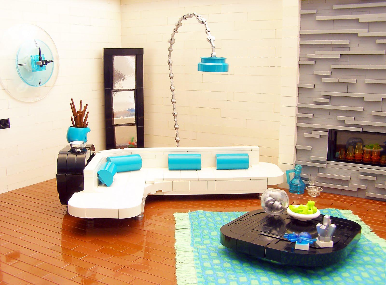Stuff i like lego interior design retro for Modern interior decorating retro furniture