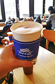 Wiki Cafe -  Hot Blueberry Latte (블루베리 라떼) | www.meheartseoul.blogspot.sg
