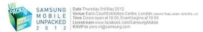 Samsung, announces, Galaxy S III, 3 May, london
