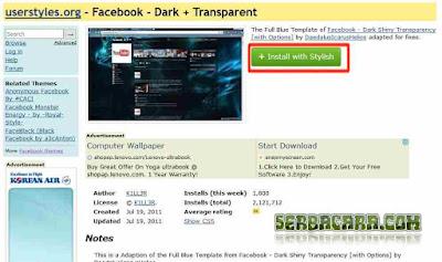 Tema Transparan Facebook