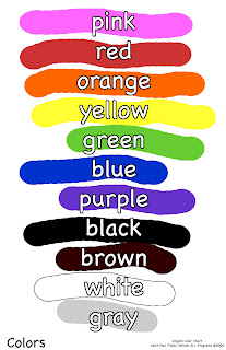 english teaching children and more colors. Black Bedroom Furniture Sets. Home Design Ideas
