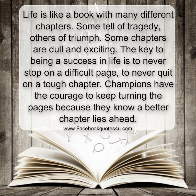 Book Quotes About Life Inspiration Mesmerizing Quotes Life Is Like A Book With Many Different Chapters.