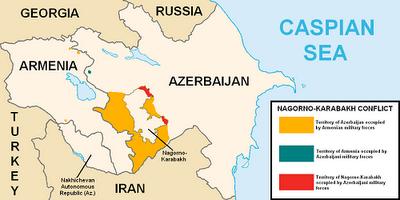la proxima guerra armenia azerbaiyan conflicto zona ocupada mapa Nagorno-Karabaj