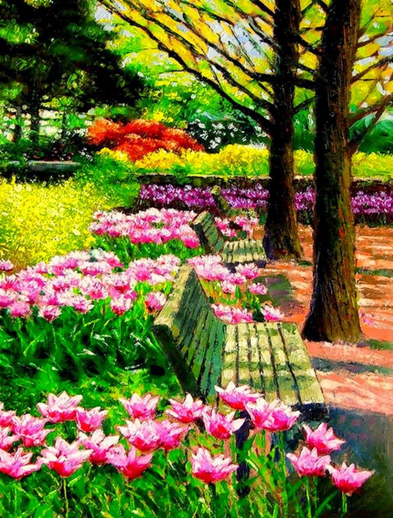 plantas-florecidas-al-oleo