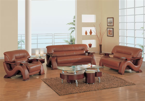 Burgundy Leather Living Room Furniture