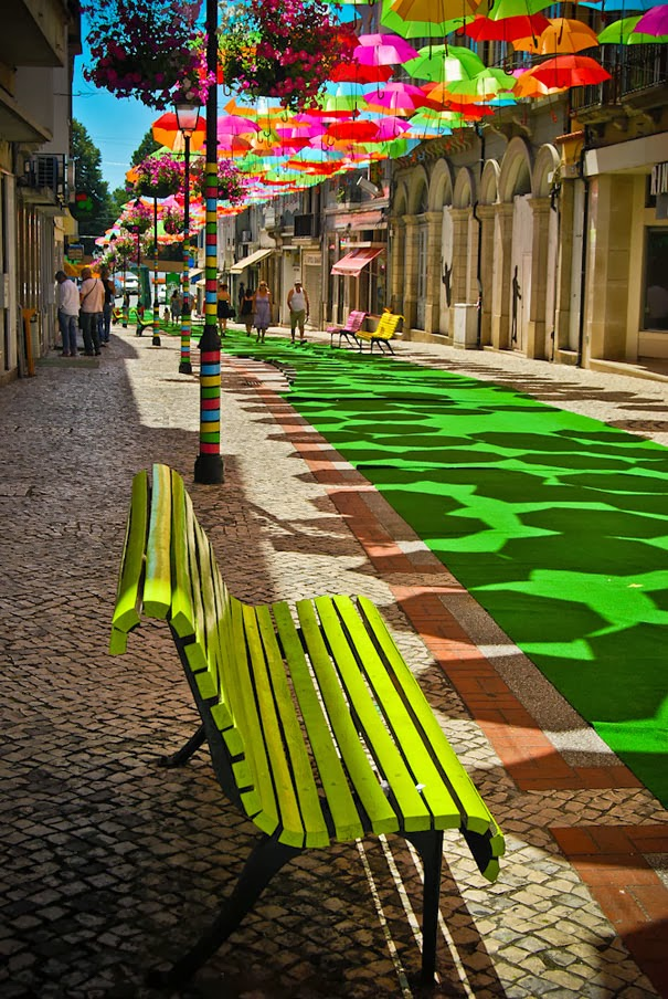 Floating Umbrellas in Agueda, Portugal