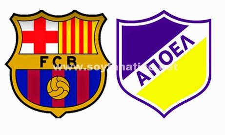 FC Barcelona vs Apoel Champions League 2014