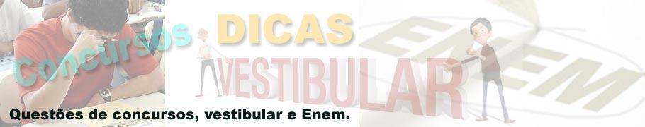 Questões e exercícios para concurso, vestibular e Enem 2012