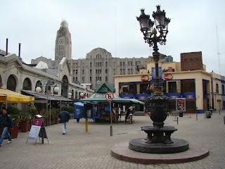Cidade velha de Montevideu, perto do Mercado