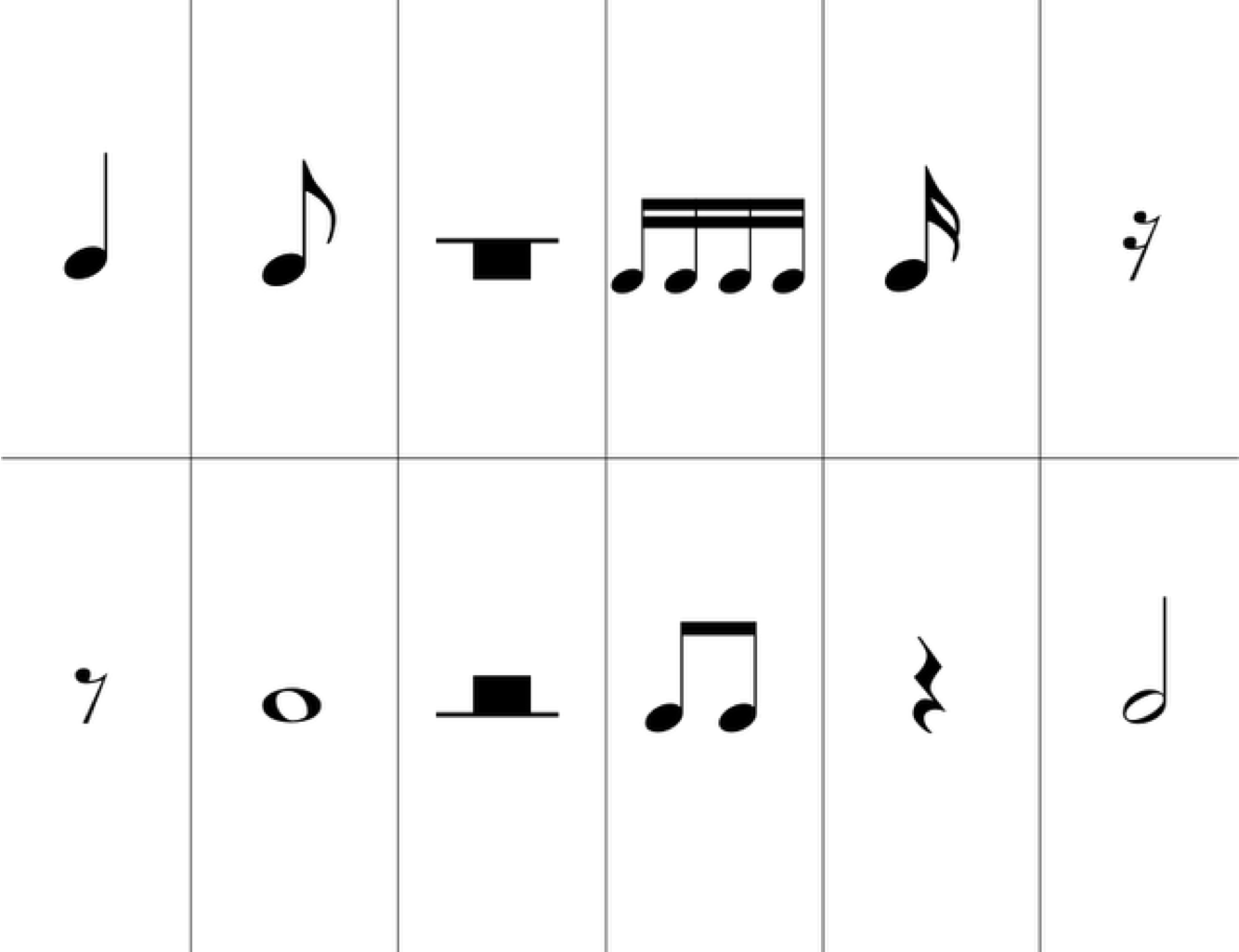 Remarkable image with regard to printable musical note flash cards