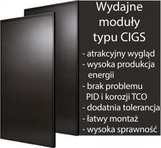 moduły fotowoltaiczne CIGS