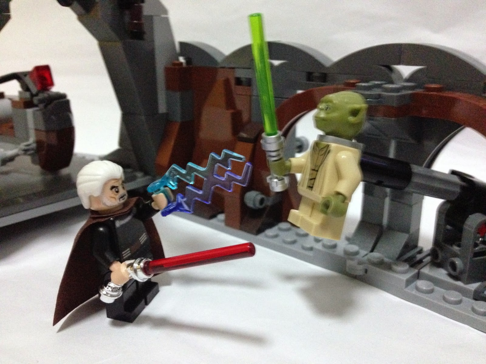 Take this, Yoda! Stop jumping around!