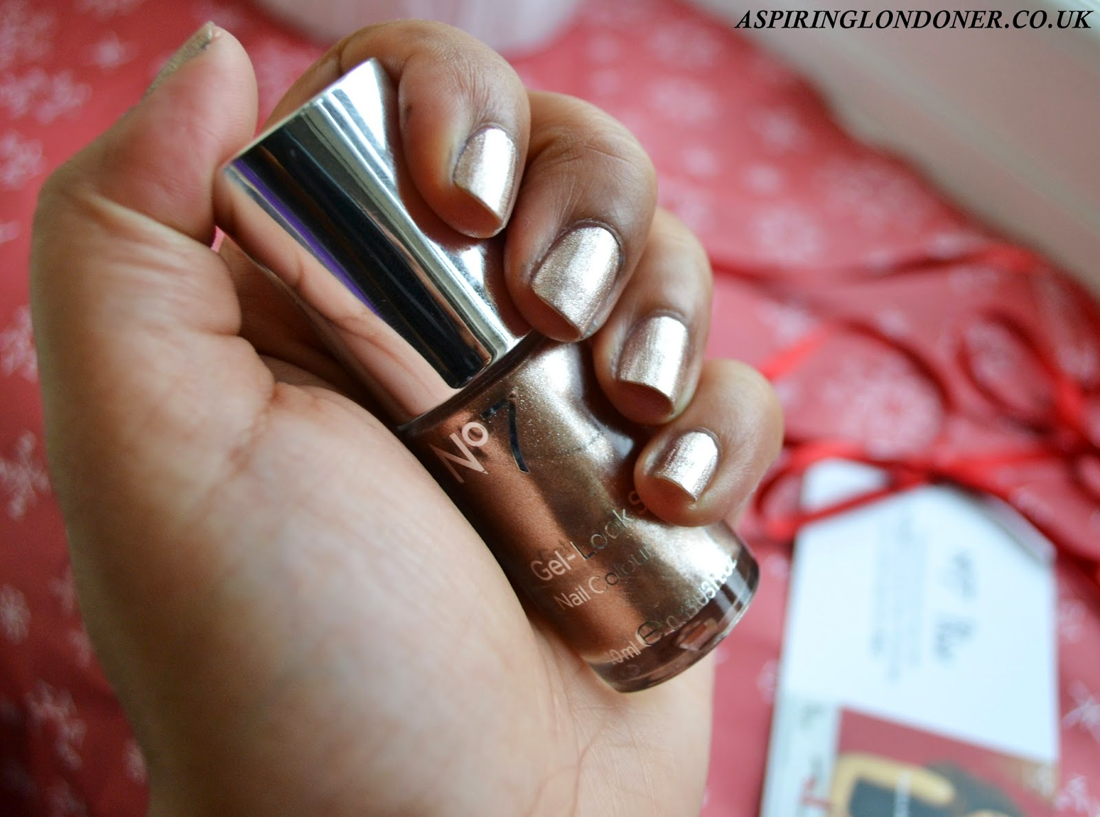 No7 Gel Look Shine Nail Polish Golden Sands Swatch Review - Aspiring Londoner