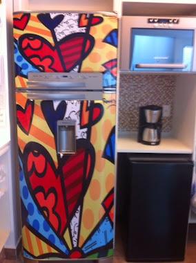 Envelopamento de geladeira e frigobar